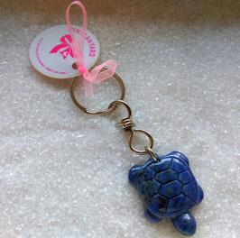 Massiver Schlüsselanhänger, Talismann Schildkröte Sodalith