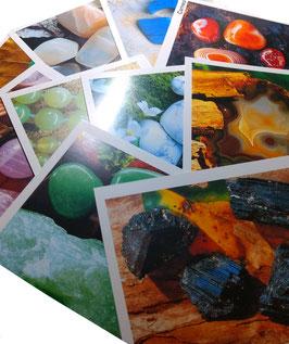 Mineralienkarten 10er Set mit farblicher Darstellung