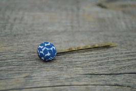 Haarklammer Blaue Blumen