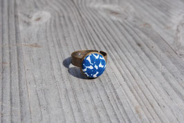 Ring Blue Flower