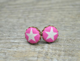 Ohrstecker Pink Star