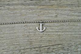 Maritimes Armbändchen mit Anker Silber
