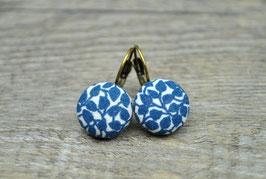 Ohrringe blaue Blümchen