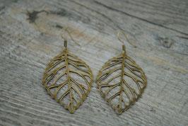 Ohrringe mit Blatt Bronze