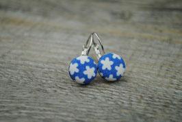Ohrringe Flower Blauer
