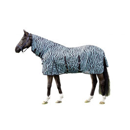 Fly rug with neck -Zebra Aqua- H-12441(aqua/black)