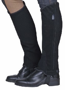 HALF CHAPS MADE OF IMITATION NUBUCK LEATHER H-6202