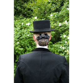 E-HAIRNET WITH STONES AND BROOCH 901041286(black)