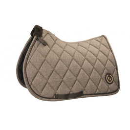 """E-BACK ON TRACK® """"HAZE COLLECTION"""" JUMPING SADDLE PAD B23530703(brown, Size : Full)"""