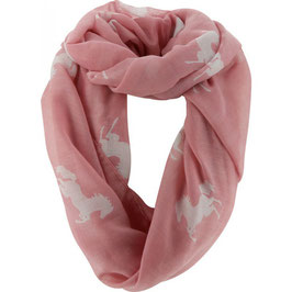E-EQUITHÈME TUBE HORSE SCARF 985160131(pink/white, Size : One size)