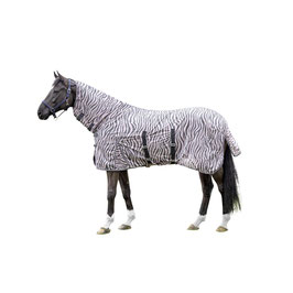 Fly rug with neck -Zebra Rose- H- 12445(rose/grey)