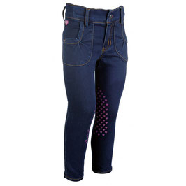 Riding breeches -Bellamonte Horses- s. knee patch H- 10518(jeans blue)