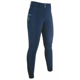Riding breeches -Comfort- Style silicone full seat H- 12094(deep blue)