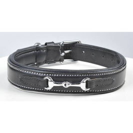 Leather dog collar -Bit- H-5656