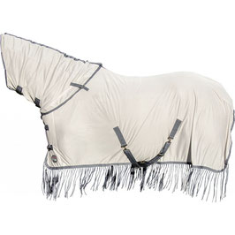 Fly rug -Fringes- Style, with neck part H-12838(silver/grey)