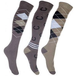 Riding socks -Cardiff- set of 3 pairs H-10465