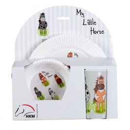 Breakfast set -Little Horses-, 3 parts  H-12132