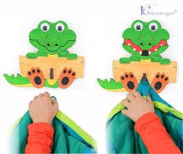 Hubert das Krokodil (Jackenhaken)