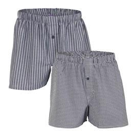 GREGOR | Boxer-Shorts, 2er-Pack (anthrazit)