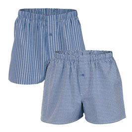 GREGOR |Boxer-Shorts, 2er-Pack (denim blue)