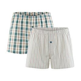 GREGOR | Boxer-Shorts, 2er-Pack (salvia/natural)