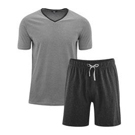 CARL Single-Jersey-Schlafanzug | 640 stone grey/anthra melange