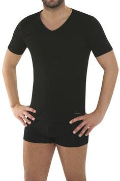 V-Shirt | Schwarz uni