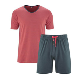 CARL Single-Jersey-Schlafanzug | 750 asphalt/cayenne