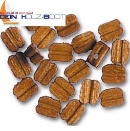 Blockrolle einfach aus Walnuss-Holz 4mm