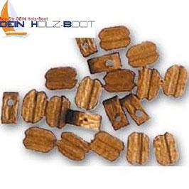 Blockrolle einfach aus Walnuss-Holz 3mm