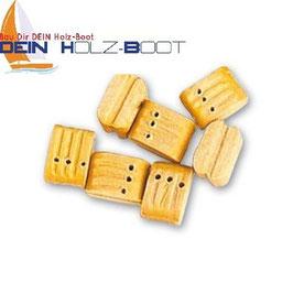 Blockrolle dreifach Holz 7mm