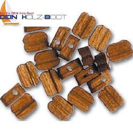 Blockrolle einfach aus Walnuss-Holz 5mm
