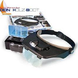 Profi-Kopfbandlupe mit schwenkbarer LED-Beleuchtung
