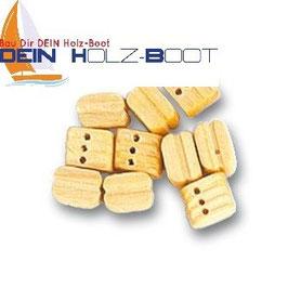 Blockrolle dreifach Holz 5mm