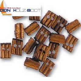 Blockrolle doppelt aus Walnuss-Holz 3mm