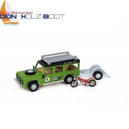 Jeep mit Anhänger und Motorrad (EASY KIT)