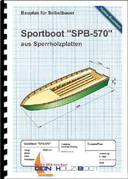 "Sportboot ""SPB-570"" (Bootsbausperrholz)"