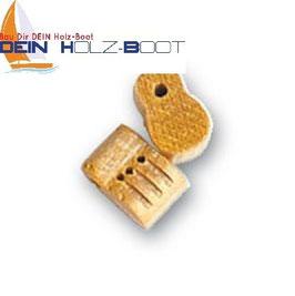 Blockrolle dreifach Holz 8mm