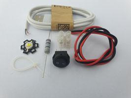 USB Lamp Kit - 1W (pre-soldered LED & Heatsink)