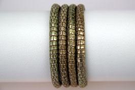 Lederband Reptilienlederprägung Grün