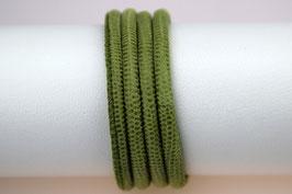 Lederband Echsenlederprägung Grün