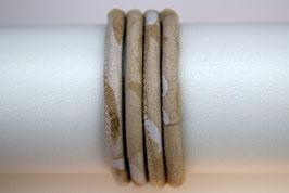 Velourslederband Beige