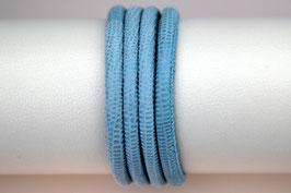 Lederband Echsenlederprägung Hellblau