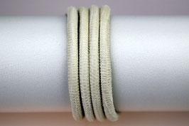 Lederband Echsenlederprägung Weiß