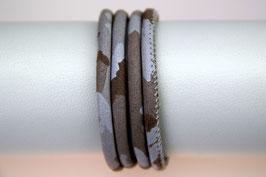 Velourslederband Taupe