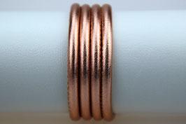 Lederband Nappaleder metallic Rosé