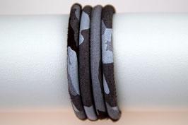 Velourslederband Grau