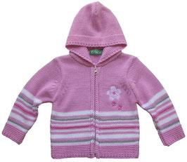 Chaqueta de punto con capucha para bebé niña
