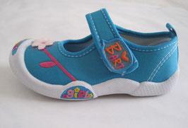 "Zapatillas deportivas niña  modelo ""Blue flowers"""