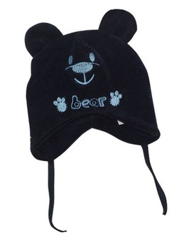 "Gorro de bebé color azul ""Bear"""